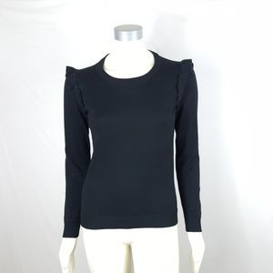 J. Crew Ruffle Shoulder Sweater